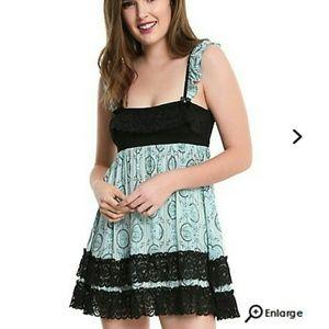 💜Alice in Wonderland Babydoll Dress Hot Topic